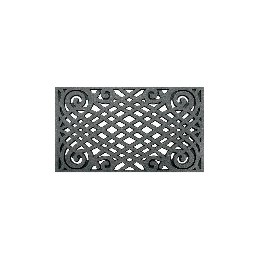 Style Selections Graphite Rectangular Door Mat (Common: 22-in x 34-in; Actual: 22-in x 34-in)