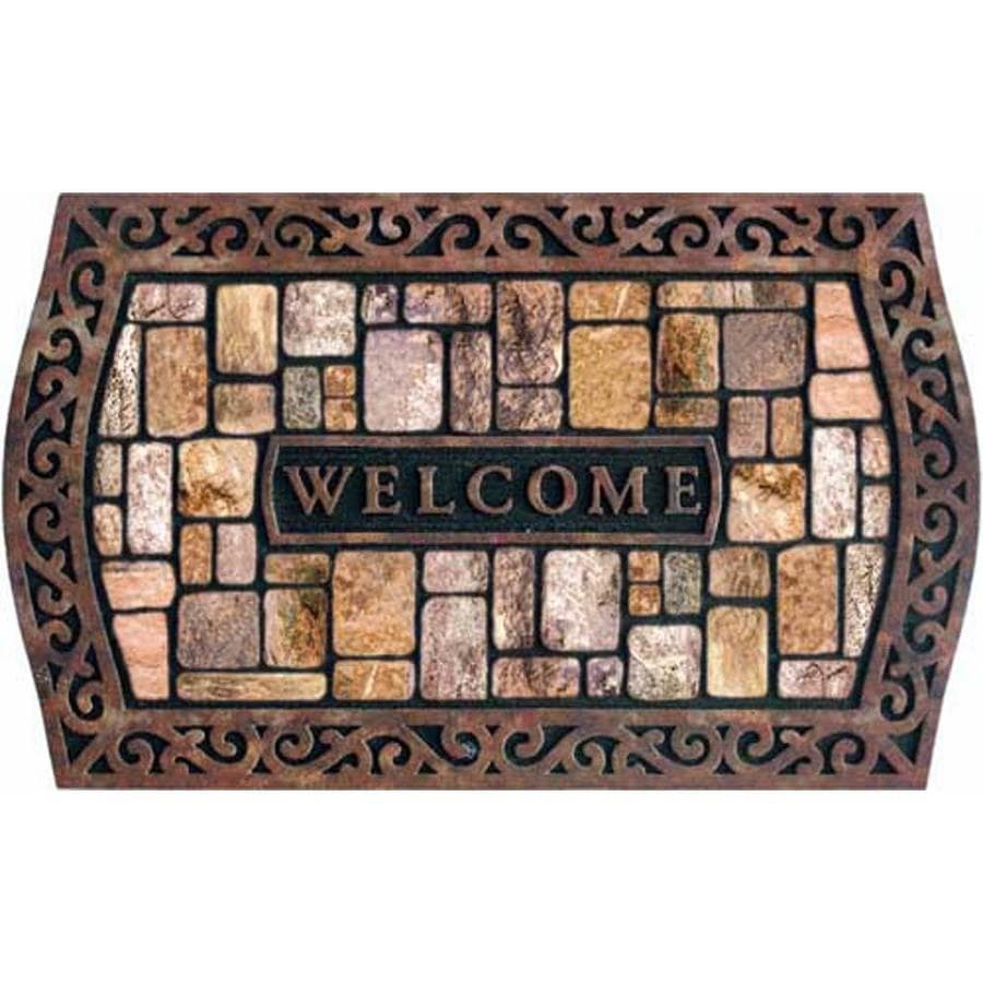 Style Selections Multicolor Rectangular Door Mat (Common: 22-in x 34-in; Actual: 22-in x 36-in)
