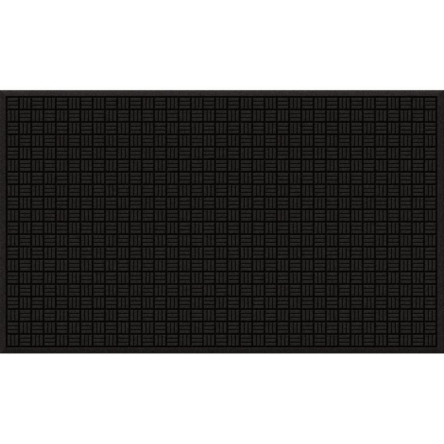 Blue Hawk Black/Recycled Rubber Rectangular Door Mat (Common: 36-in x 60-in; Actual: 36-in x 60-in)