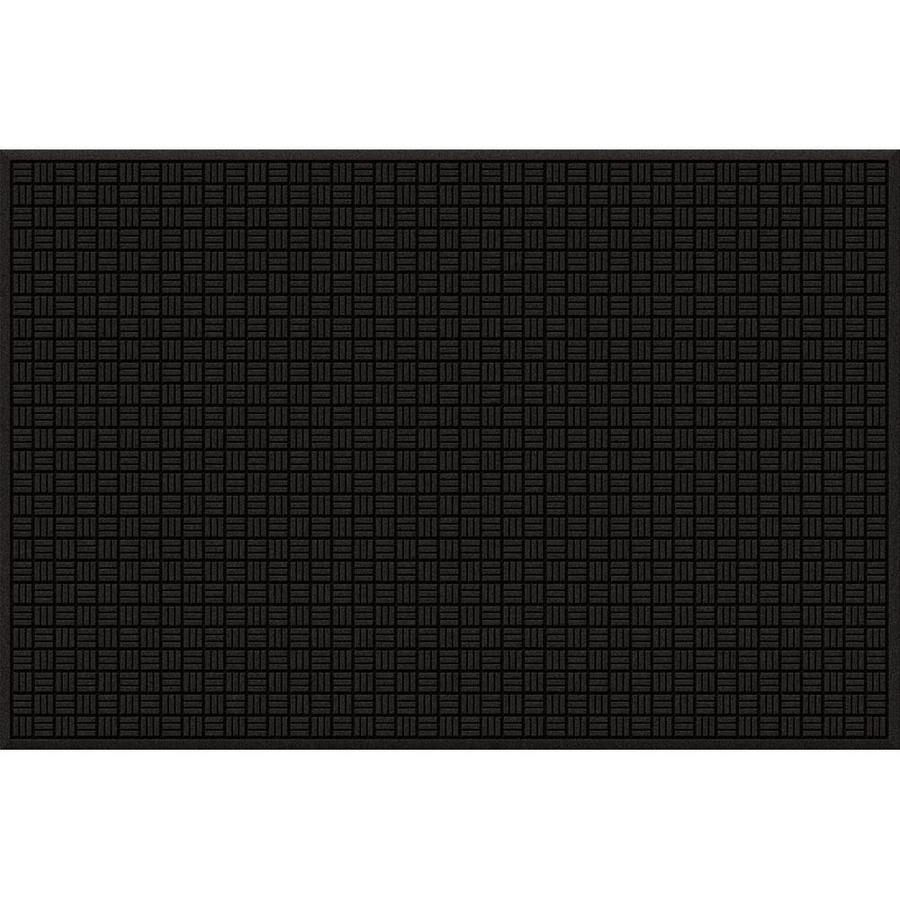 Blue Hawk Black/Recycled Rubber Rectangular Door Mat (Common: 48-in x 72-in; Actual: 48-in x 72-in)