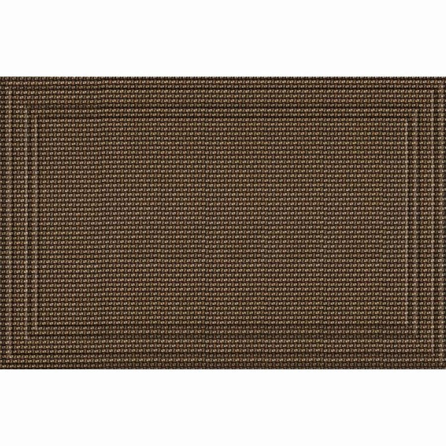 Apache Mills, Inc. Chocolate Rectangular Door Mat (Common: 30-in x 47-in; Actual: 30-in x 47-in)