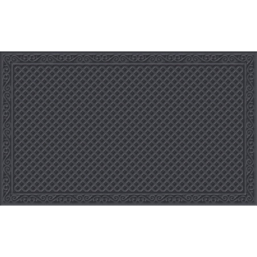 Blue Hawk Blue/Gray Rectangular Door Mat (Common: 36-in x 60-in; Actual: 36-in x 60-in)