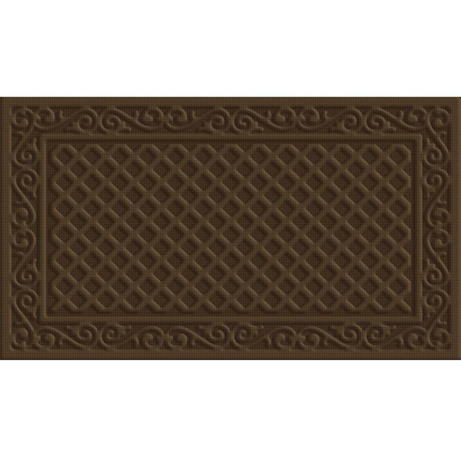 Style Selections Coffee Rectangular Door Mat (Common: 18-in x 30-in; Actual: 18-in x 30-in)