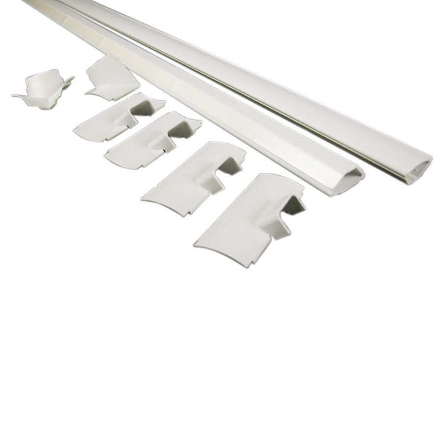 Wiremold 1-1/2-in x 96-in Low-Voltage White Cord Cover
