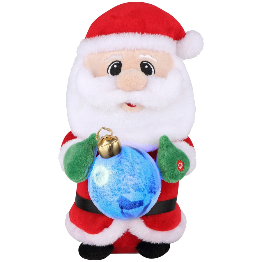Holiday Living Animatronic Pre-Lit Musical Fabric Tabletop Figurine with Constant Multicolor LED Lights