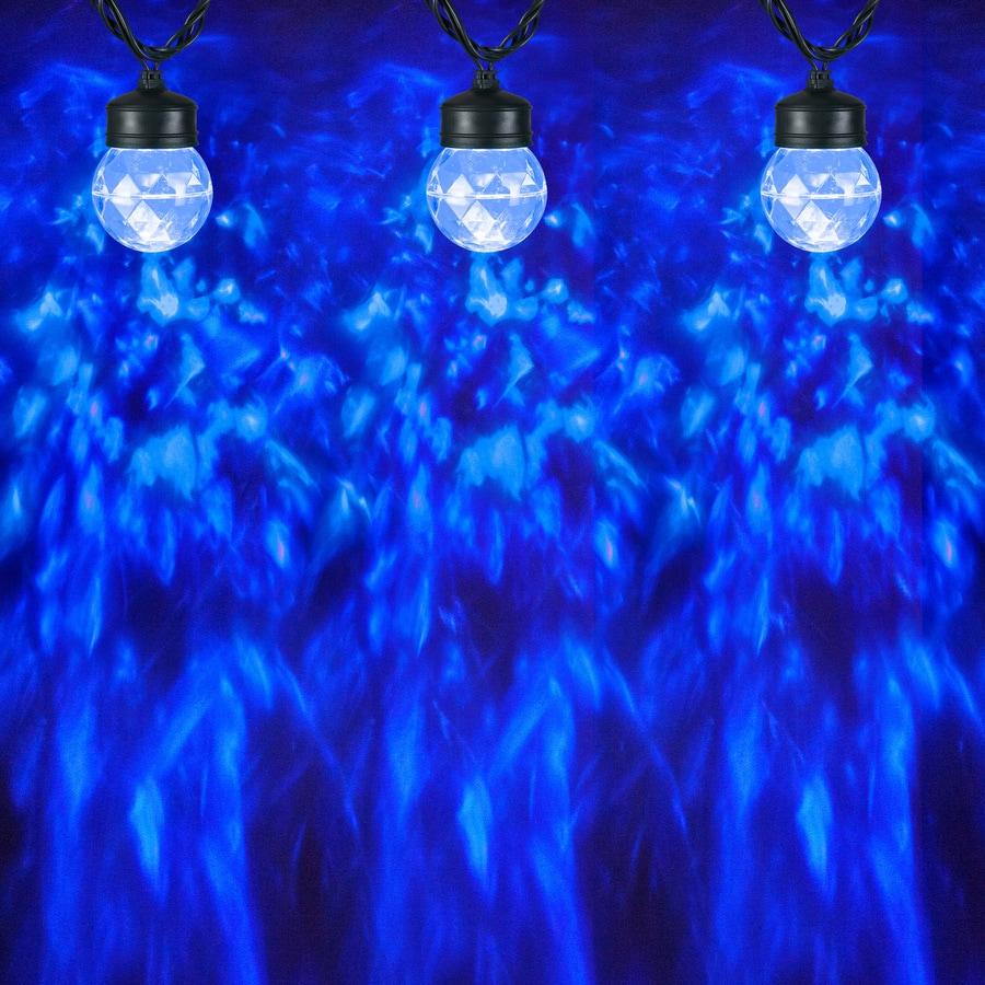 Gemmy LightShow Swirling Blue LED Kaleidoscope Christmas Spotlight Projector