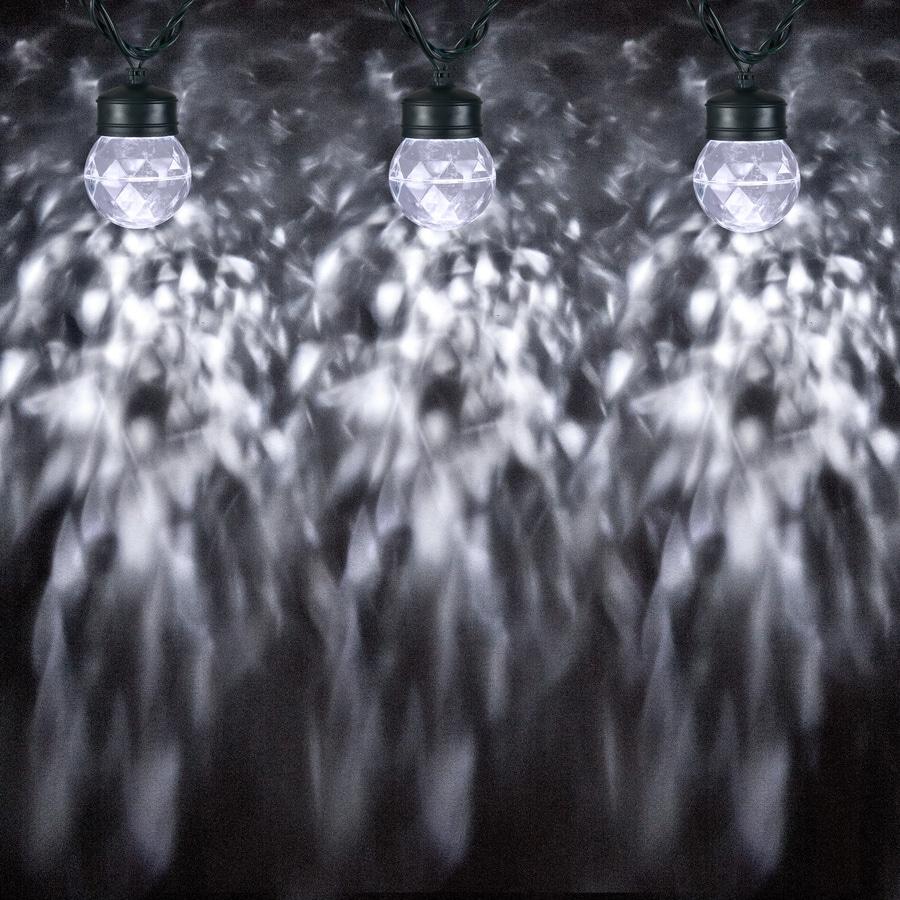 Gemmy LightShow Swirling White LED Kaleidoscope Christmas Spotlight Projector