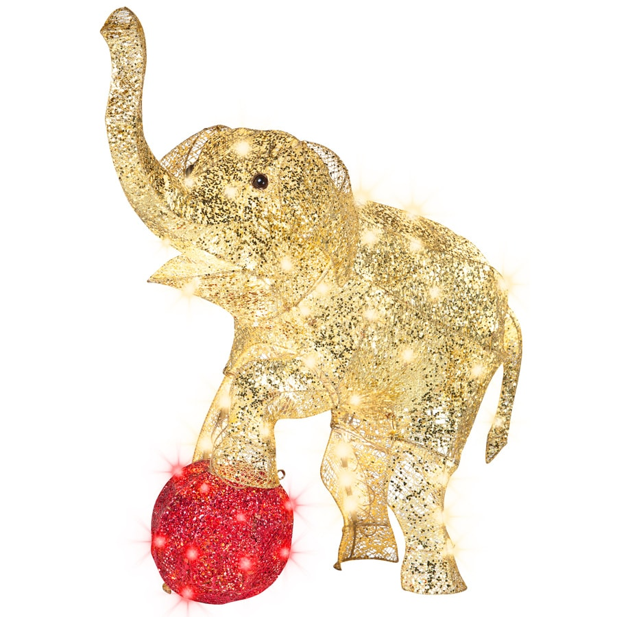 Shop gemmy lighted elephant outdoor christmas decoration for Outdoor light up ornaments