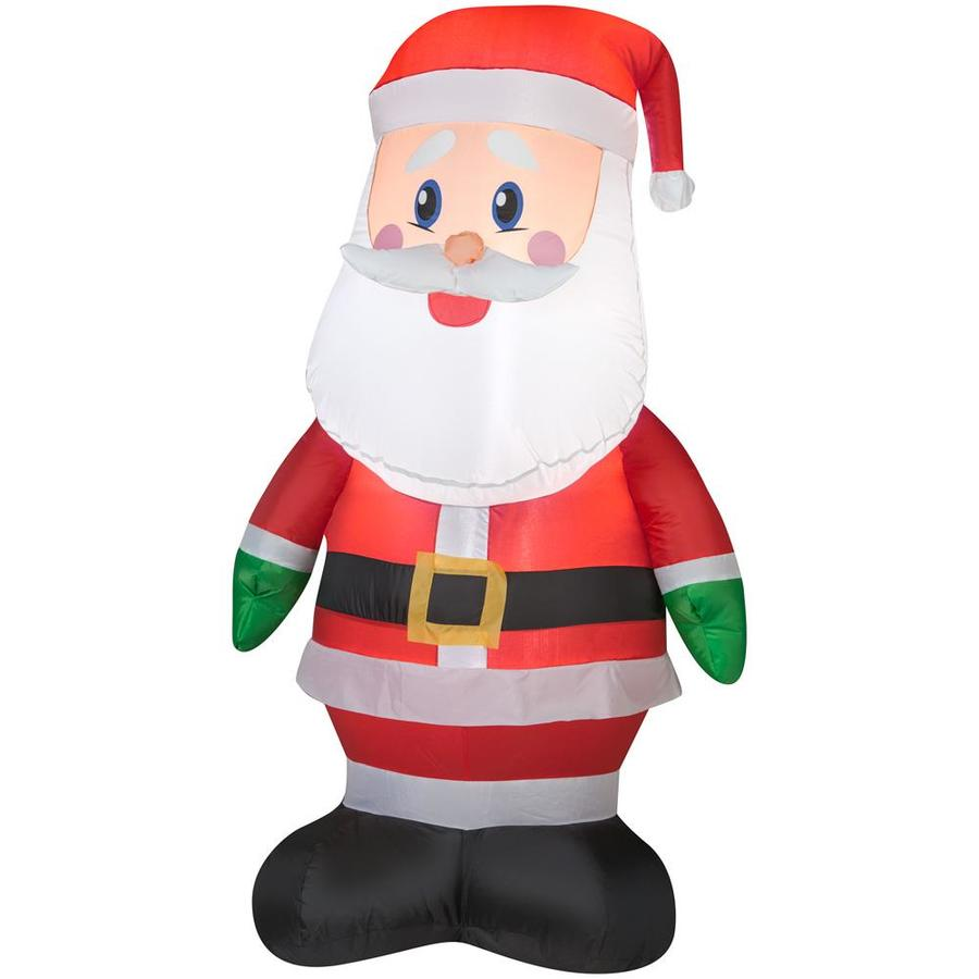 Shop gemmy ft lighted santa christmas inflatable at