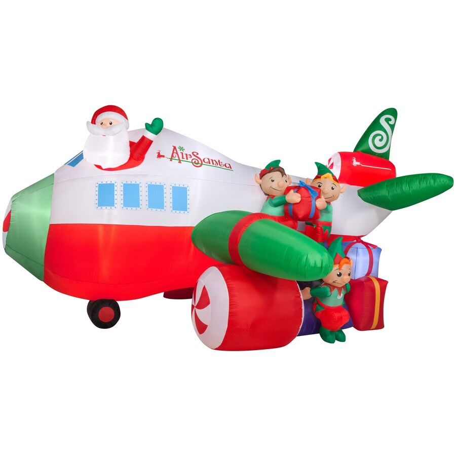 Holiday Living 9.38-ft x 18.2-ft Lighted Santa Christmas Inflatable