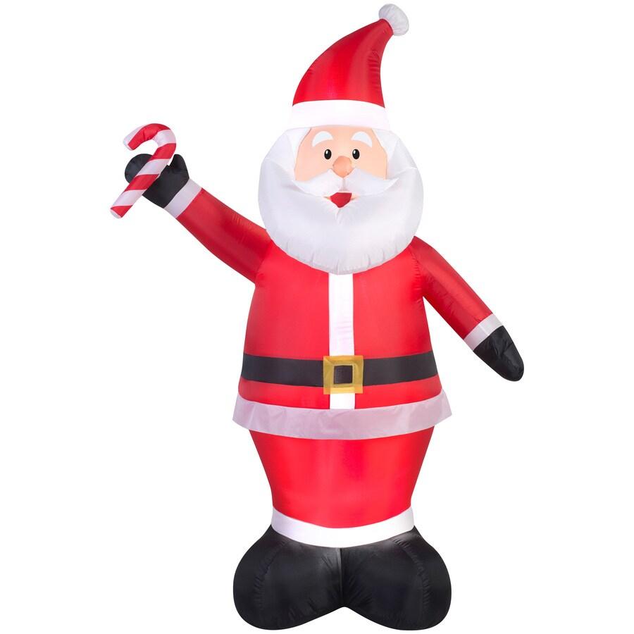 Holiday Living 6.98-ft x 2.29-ft Lighted Santa Christmas Inflatable