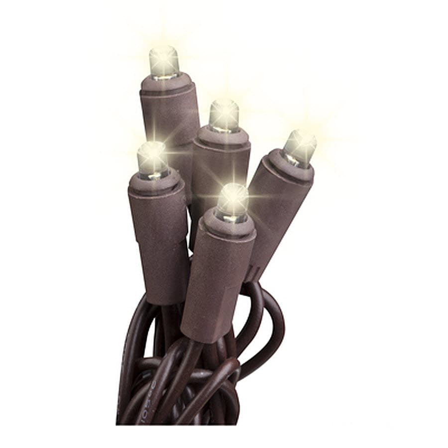 Shop Gemmy 10.5-ft 55-Light White LED Plug-In Bulbs String Lights at Lowes.com