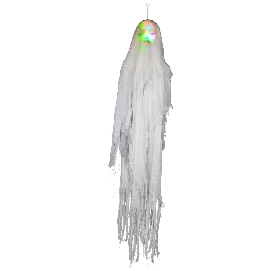 Holiday Living Animatronic Pre-Lit Musical Hanging Ghost Greeter with Multi-Function Multicolor LED Lights