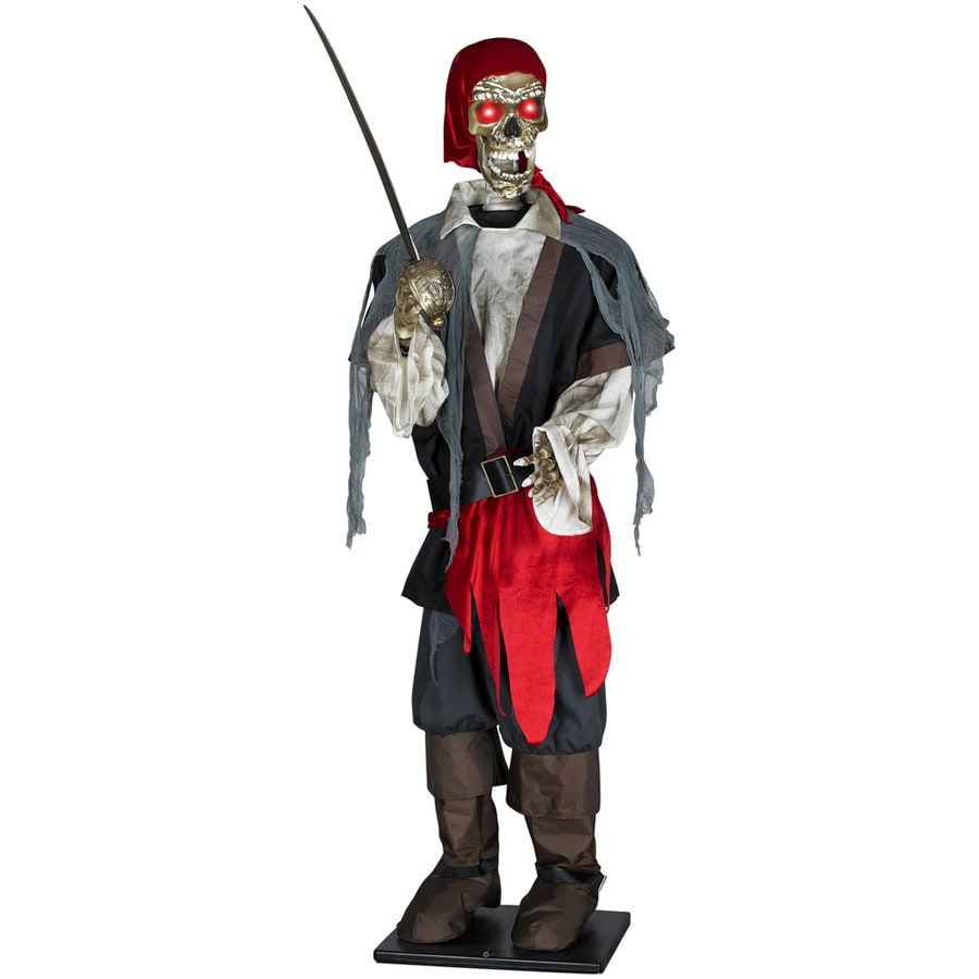 Gemmy 6-ft Lifesize Musical Lighted Animated Pirate Table Top Indoor Halloween Holiday Decoration