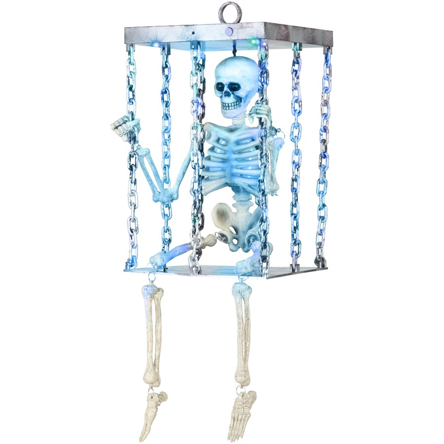 Gemmy 28.4-in Musical Skeleton in Cage Indoor Halloween Holiday Decoration