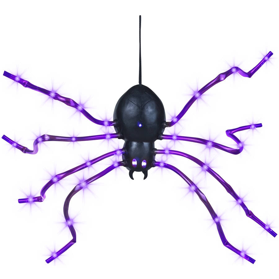 Gemmy 0.2-ft Light Wave Spider Purple with LED Purple Multi-Function Lights
