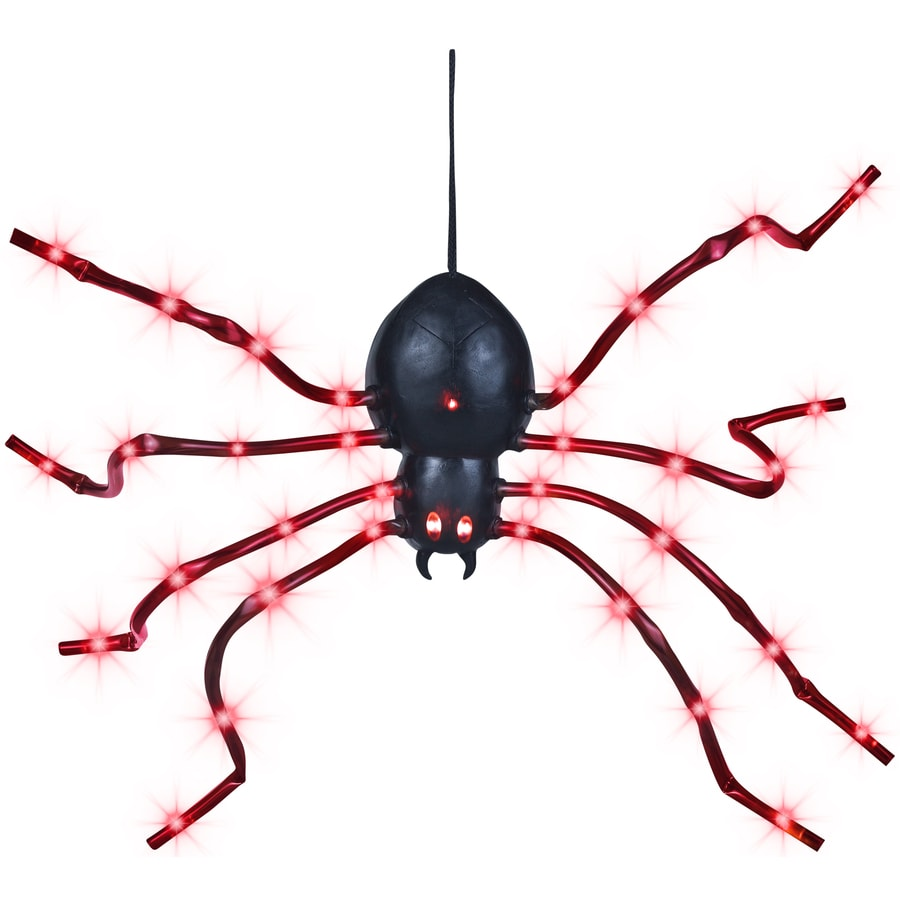 Gemmy 0.2-ft Light Wave Spider with LED Red Multi-Function Lights