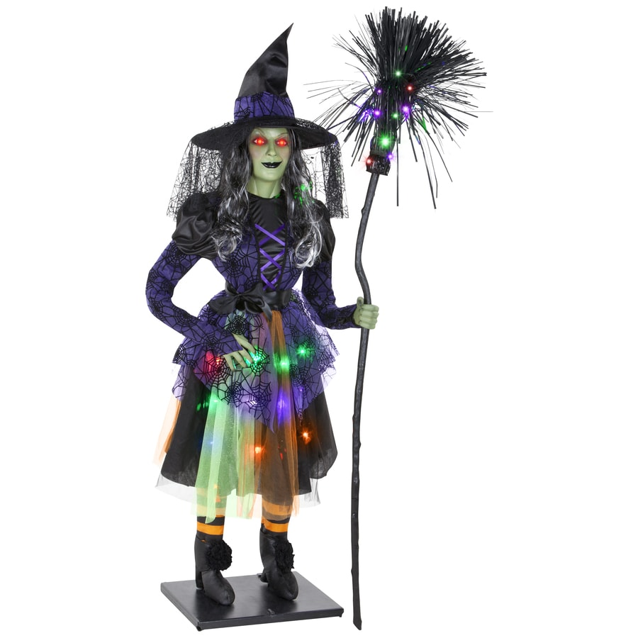 Gemmy 68.897-in Lighted Musical Animatronic Sarah The Sassy Witch Indoor Halloween Decoration
