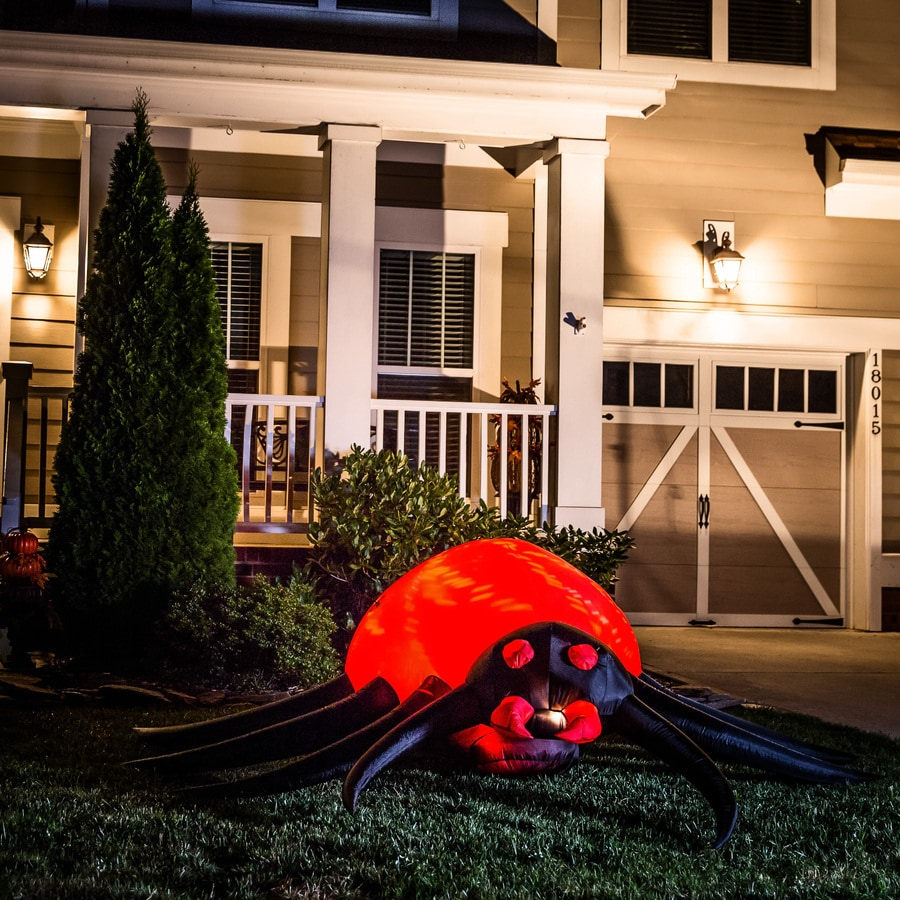 Holiday Living 2-ft x 8-ft Animatronic Lighted Spider Halloween Inflatable