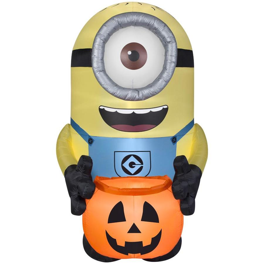 Shop Gemmy 8 Ft X 5 Ft Lighted Minion Halloween Inflatable