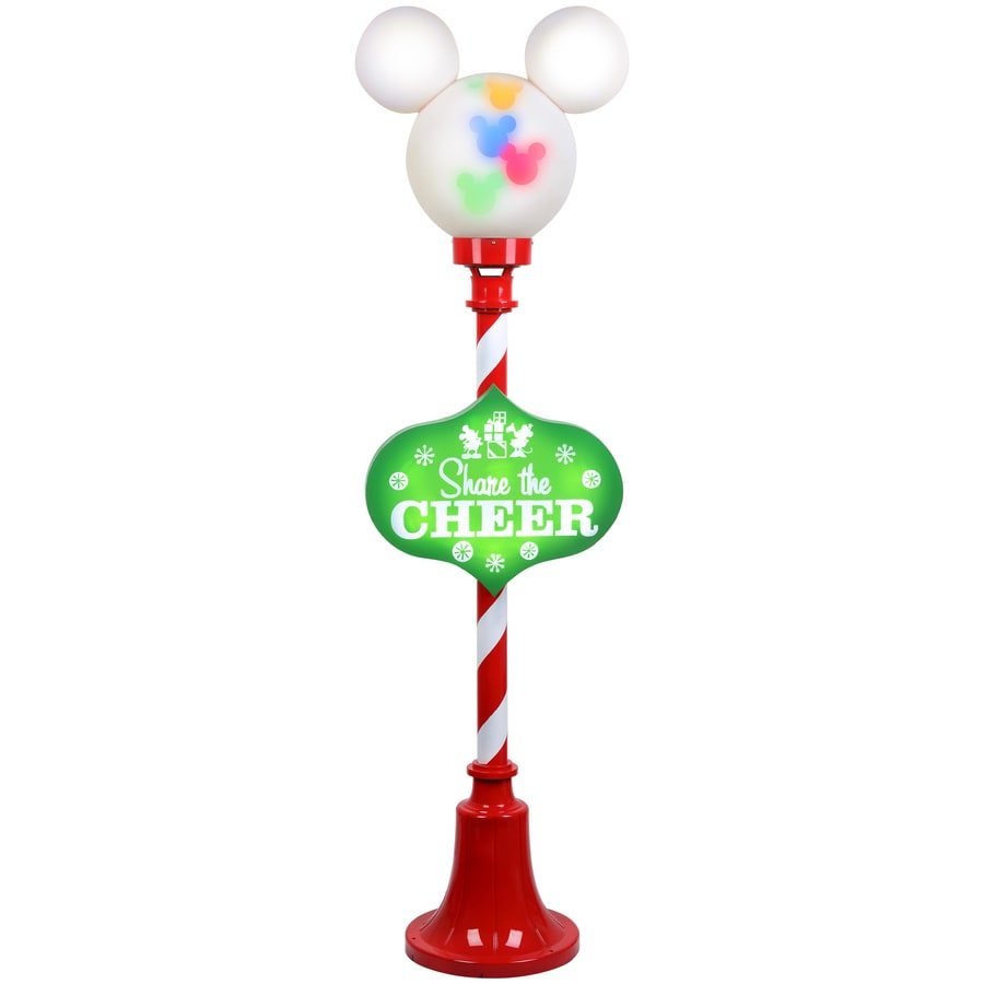 Gemmy Pre-Lit Plastic Freestanding Sculpture with Multi-Function Multicolor LED Lights