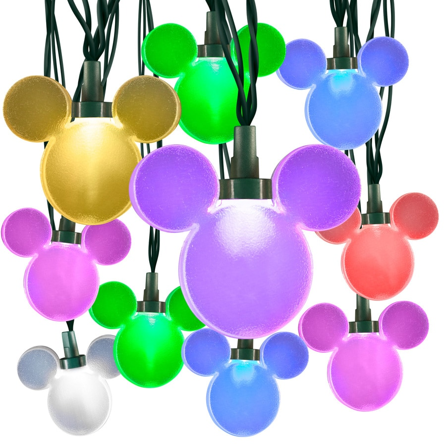 Disney LightShow 24-Count 23-ft Multi-Function Multicolor Mini LED Plug-in Christmas String Lights