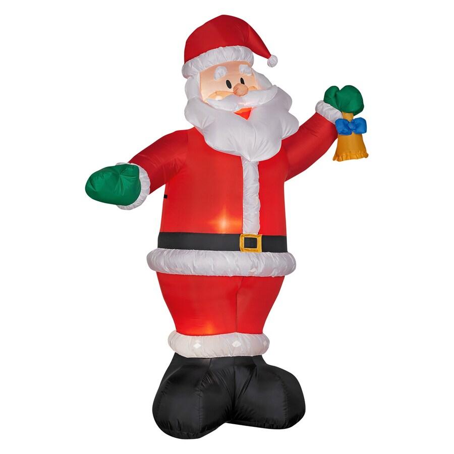 Shop gemmy ft inflatable santa at lowes