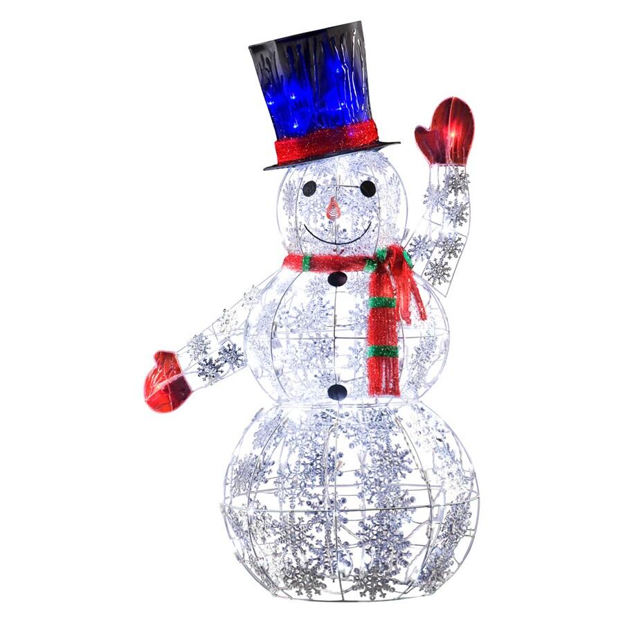 Shop Gemmy 4 Ft Led Sparkle Snowman At Lowes Com