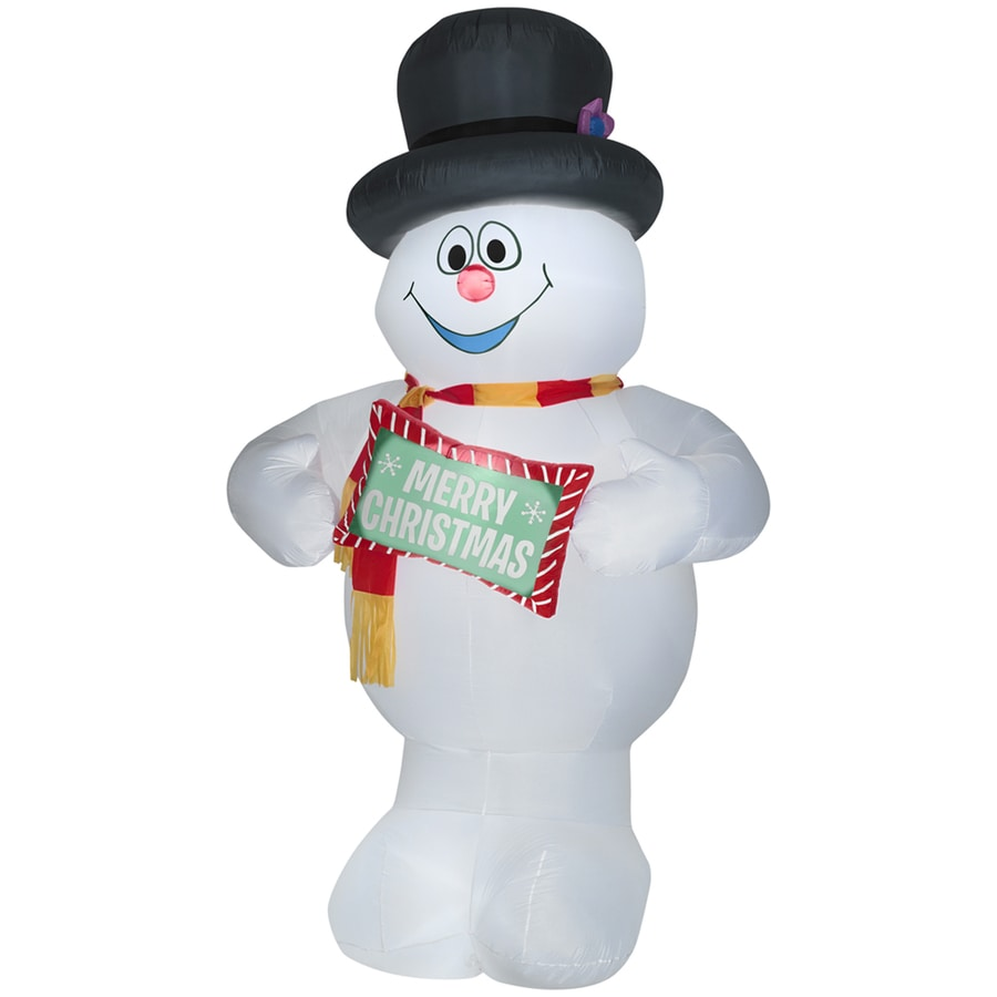 Holiday Living 10-ft Inflatable Fabric Christmas Frosty with Sign