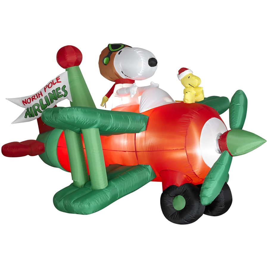Holiday Living 3.6-ft Inflatable Fabric Snoopy In Airplane