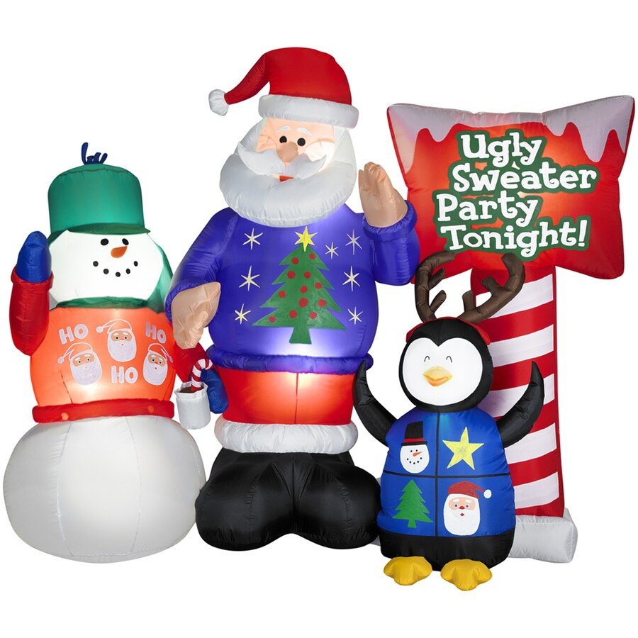 Holiday Living 5-1/2-ft Inflatable Fabric Ugly Sweater Party