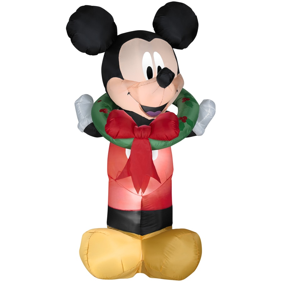Holiday Living 5.38-ft Inflatable Fabric Christmas Mickey Mouse