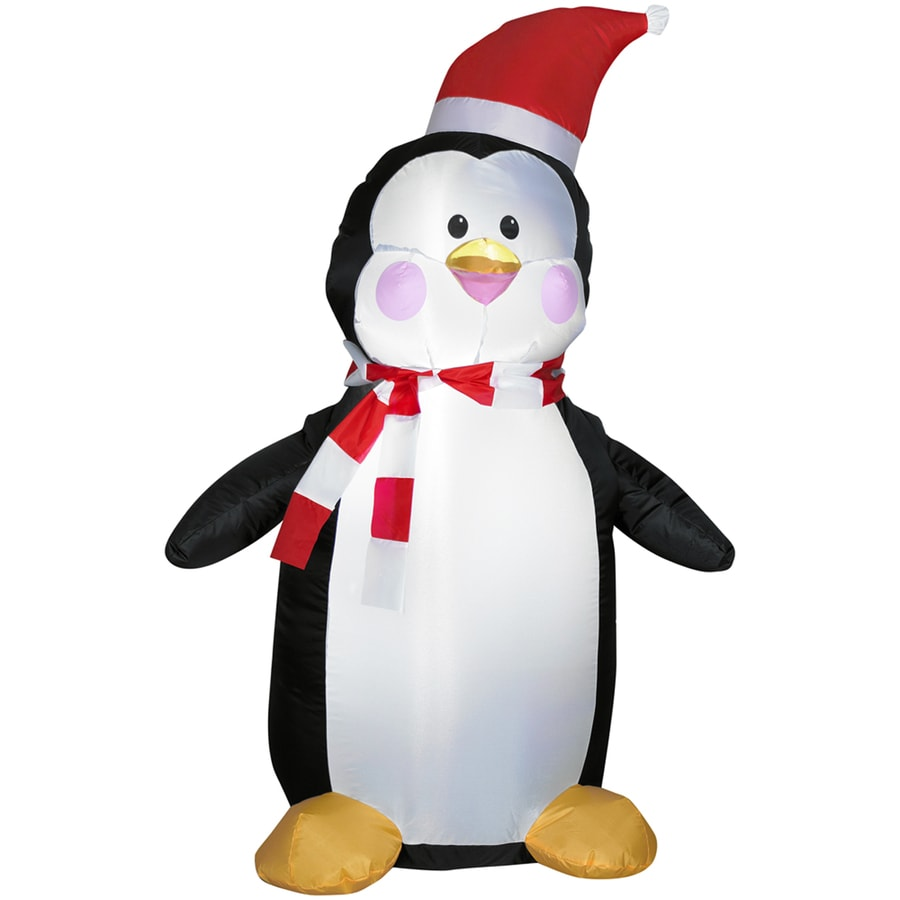 Holiday Living 4-ft Inflatable Fabric Penguin
