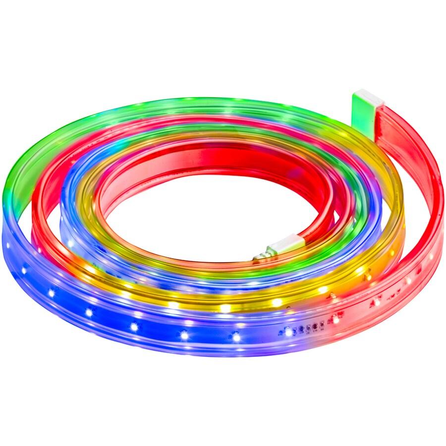 Gemmy 12-1/2-ft Plastic Flex Tech Multicolor Christmas Ribbon