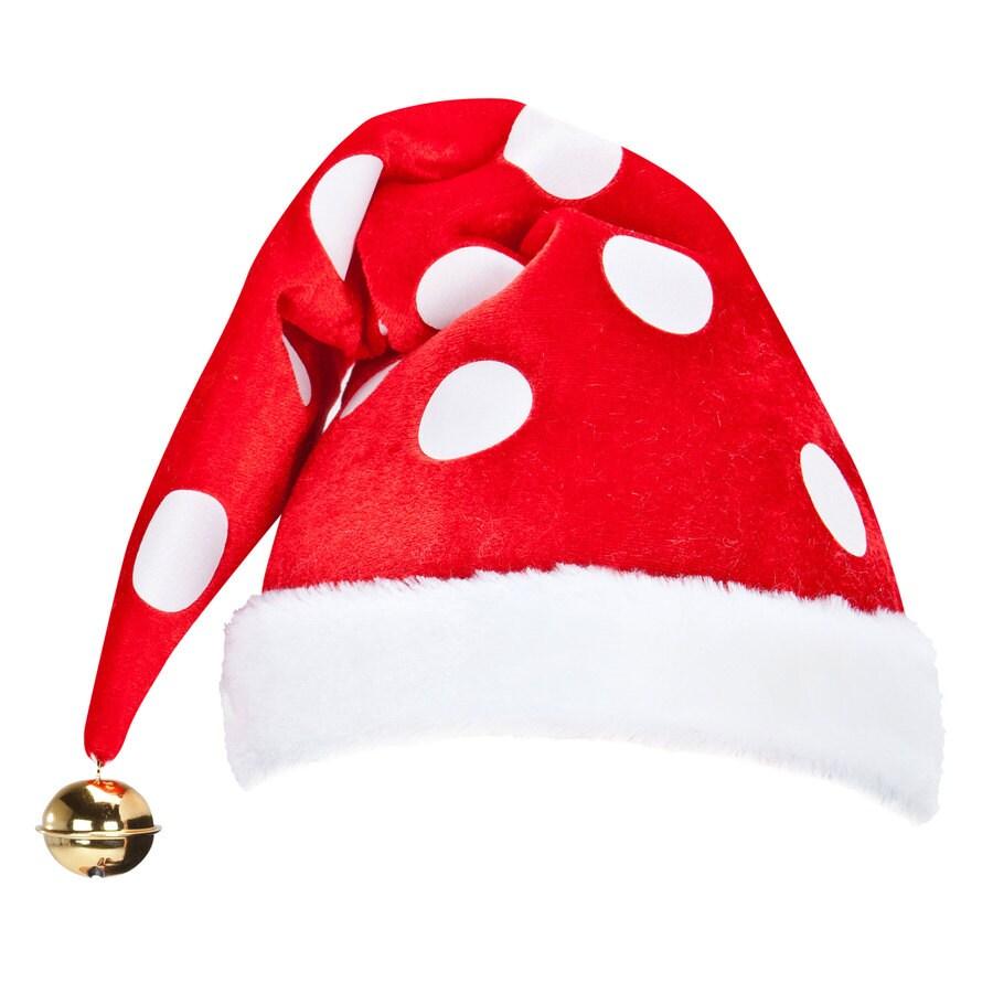 Gemmy Christmas Felt Plush Santa Hat