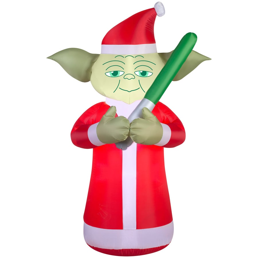 Gemmy 6-ft x 2.29-ft Lighted Star Wars Yoda Christmas Inflatable