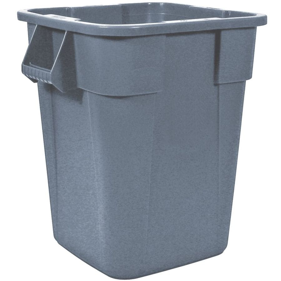 Shop rubbermaid commercial products 40 gallon gray indoor for Commercial bathroom trash cans