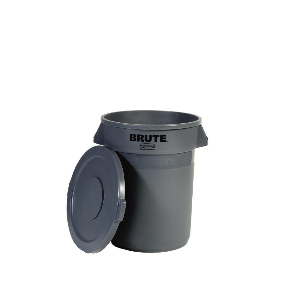 Rubbermaid 32-Gallon Gray Outdoor Garbage Can