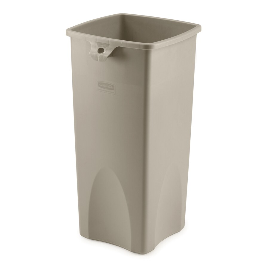 Shop rubbermaid commercial products untouchable 23 gallon for Beige bathroom bin