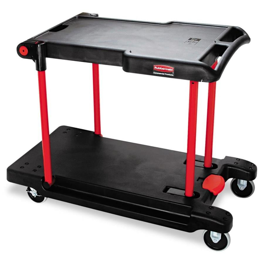 Go Home Black Industrial Kitchen Cart At Lowes Com: Shop Rubbermaid Commercial Products 34.37-in Utility Cart