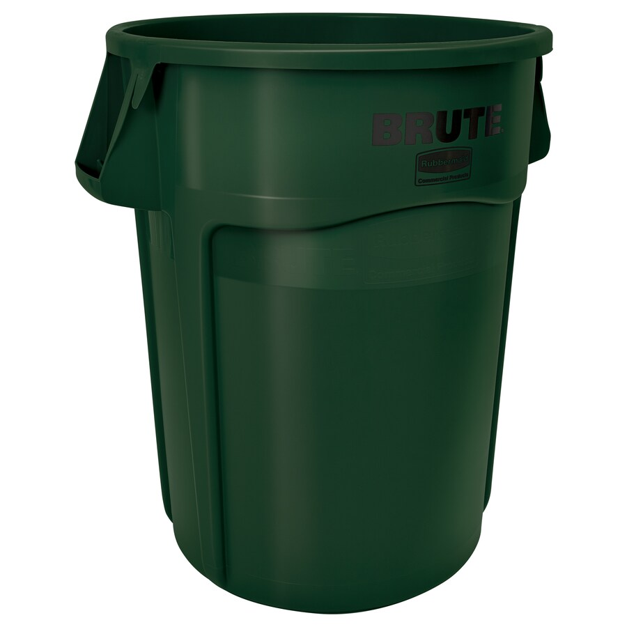 shop rubbermaid commercial products brute 55 gallon dark green plastic trash can at. Black Bedroom Furniture Sets. Home Design Ideas