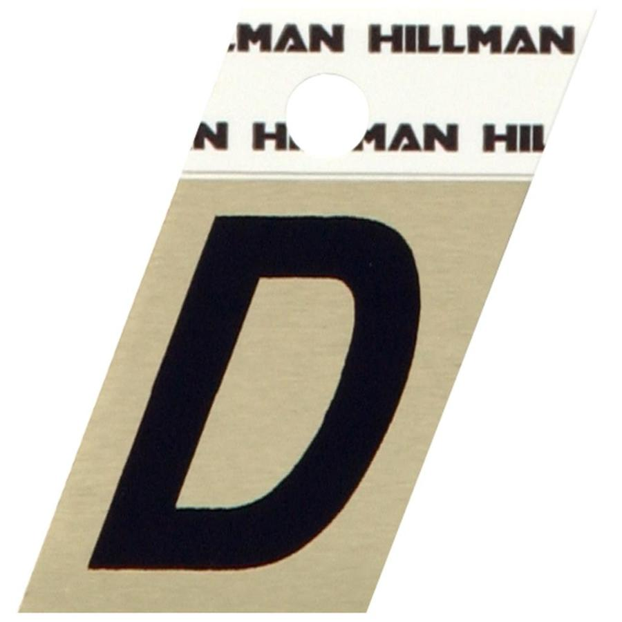 The Hillman Group 1.5-in Black House Letter D