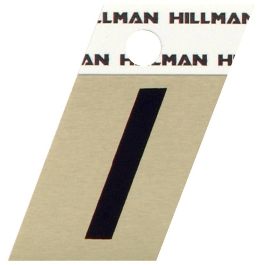 The Hillman Group 1.5-in Black and Gold House Letter I