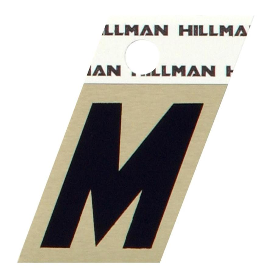 The Hillman Group 1.5-in Black and Gold House Letter M