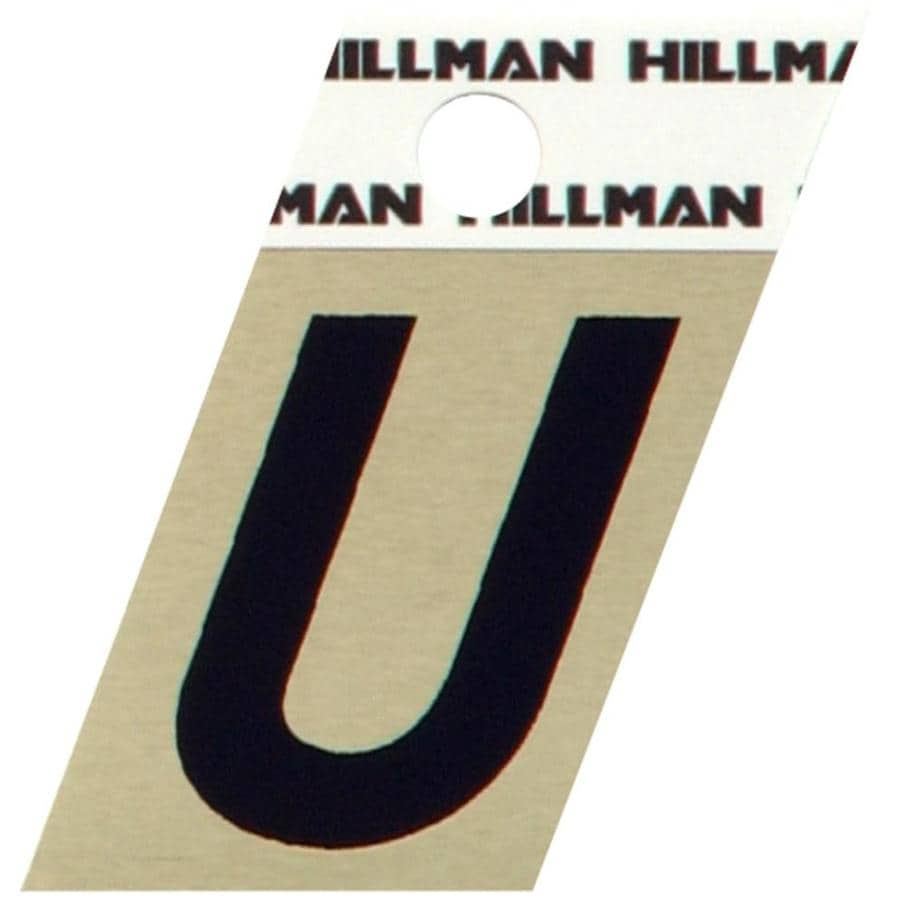 The Hillman Group 1.5-in Black and Gold House Letter U