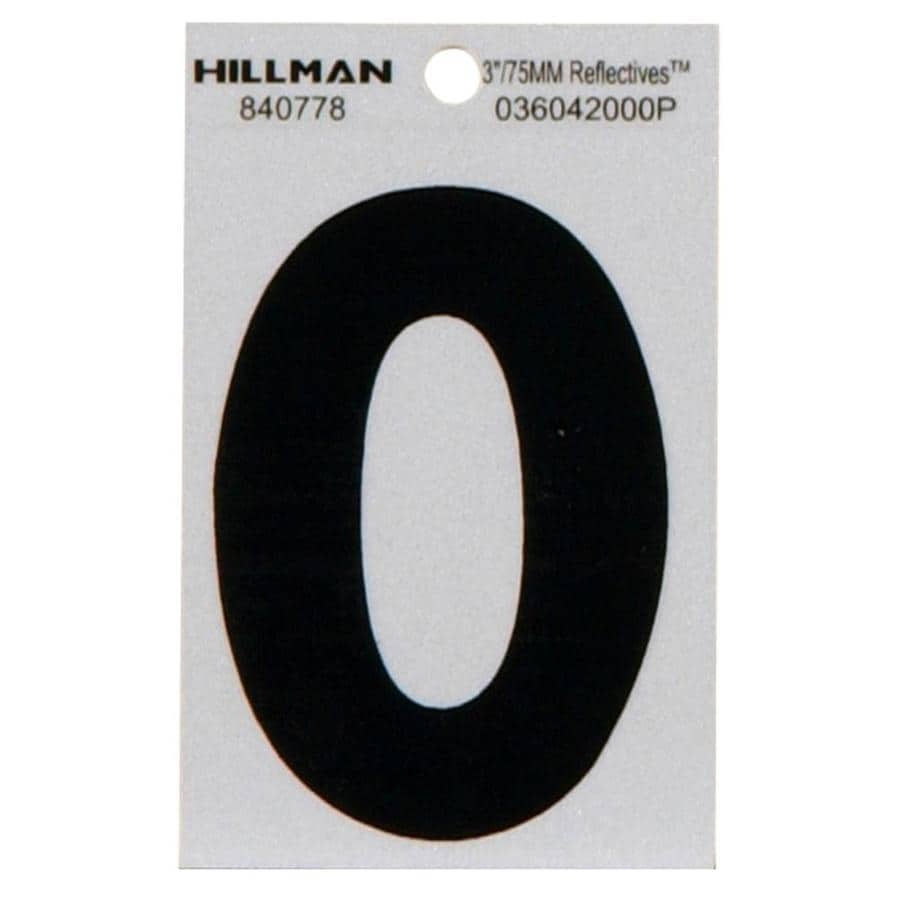 The Hillman Group 3-in Black and Silver House Number 0