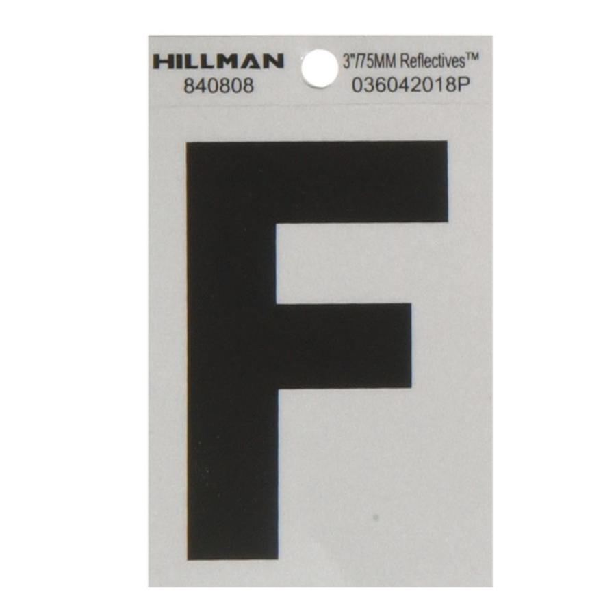 The Hillman Group 3-in Black and Silver House Letter F