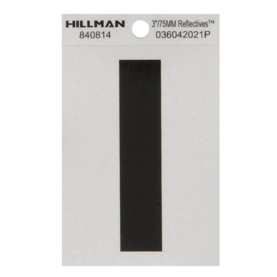 The Hillman Group 3-in Black and Silver Reflective House Letter I