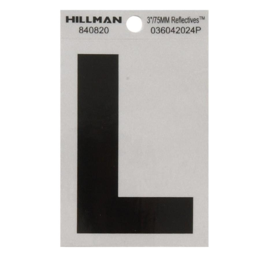 The Hillman Group 3-in Black and Silver House Letter L