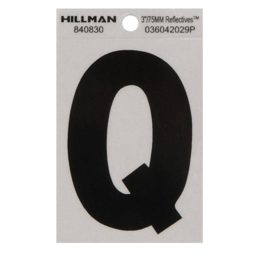 The Hillman Group 3-in Black and Silver House Letter Q